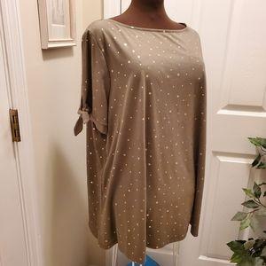 Ladies Plus Size Fashion Top, Sz 22/24